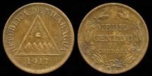World Coins - 1917 Nicaragua 1/2 Centavo UNC