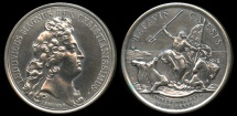 World Coins - 1676  France - King Louis XIV: Recovery of the Cayenne by Jean Mauger and Jean Dollin