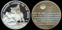 Us Coins - 1969 Apollo 11 Lunar Landing Commemorative Medal - Silver