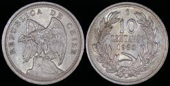World Coins - 1938 Chile 10 Centavos UNC