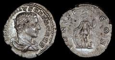 Ancient Coins - Geta Denarius - PONTIF COS - Rome Mint