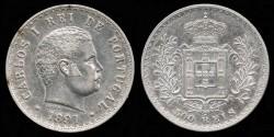 World Coins - 1891 Portugal 500 Reis AU