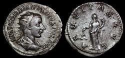 Ancient Coins - Gordian III Ar Antoninianus - AEQVITAS AVG - Rome Mint