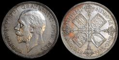 World Coins - 1935 Great Britain 1 Florin - Two Shillings - George V - UNC