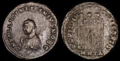 Ancient Coins - Licinius II Follis - PROVIDENTIAE CAESS - Heraclea Mint