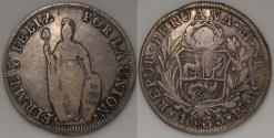 World Coins - 1835 MM Peru 8 Reales (Standing Liberty) - VF