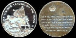 Us Coins - 1969 Apollo 11 Lunar Landing Commemorative Medal - Silver
