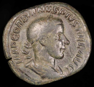 Ancient Coins - Gordian III Sestertius - FORTVNA REDVX - Rome Mint
