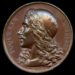 World Coins - 1816 France – Jean-Baptiste Poquelin de Moliere (Playwright and Stage Manager) by Raymond Gayrard