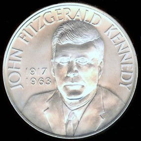 US Coins - 1963 John F. Kennedy Memorial Medal - Silver