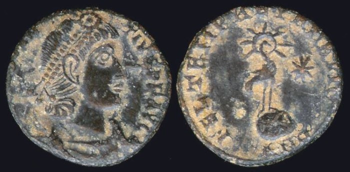 Ancient Coins - Constans 1/2 Centenionalis - FEL TEMP REPARATIO - Antioch Mint
