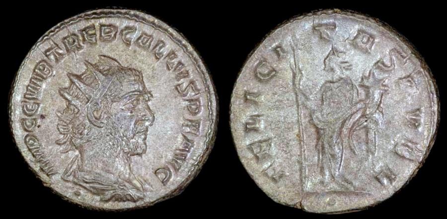 Ancient Coins - Trebonianus Gallus Ar Antoninianus - FELICITAS PVBL - Antioch Mint