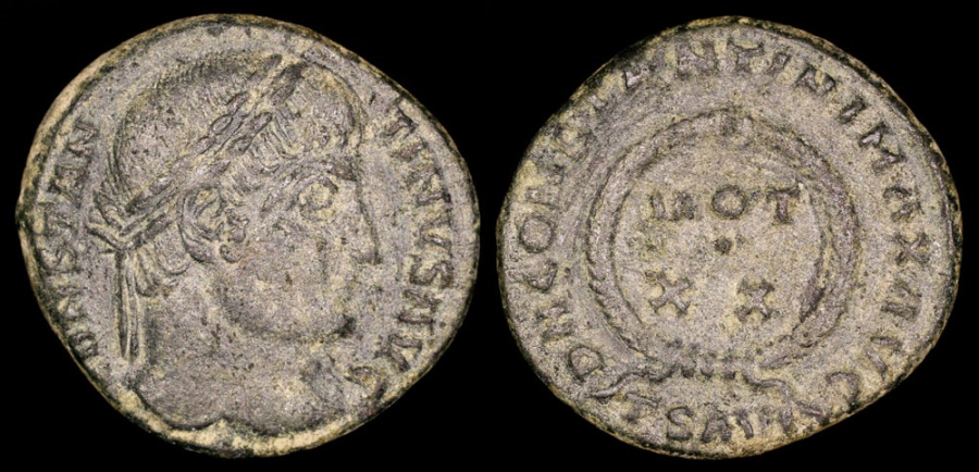 Ancient Coins - Constantine I Ae3 - D N CONSTANTINI MAX AVG - Thessalonica Mint
