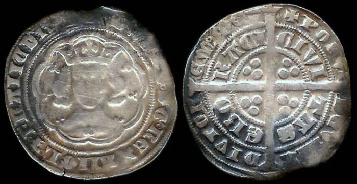 World Coins -   1327-1377 - Edward III - Groat - York Mint