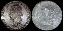 World Coins - 1862 PTS-FP Bolivia 8 Soles - Simon Bolivar - UNC