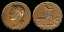 World Coins - 1811 France - Napoleon - Baptism of the King of Rome by B. Lafitte and Jean-Bertrand Andrieu and Dominique-Vivant Denon