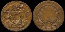 World Coins - 1887 France – International Maritime Exposition Award Medal