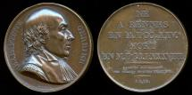 World Coins - 1819  France - 1819 France - Pierre Jean Baptiste Gerbier, French lawyer and orator by Etienne Jacques Dubois for the series Galerie Metallique des Grands Hommes Francais