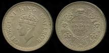 World Coins - 1943 B India (British) 1/4 Rupee UNC