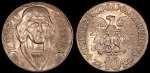 World Coins - 1965 Poland 10 Zlotych - Mikolaj Kopemik Commemorative - UNC