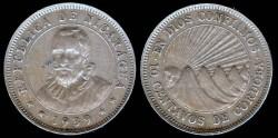 World Coins - 1939 Nicaragua 10 Centavos XF