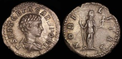 Ancient Coins - Geta  Denarius - NOBILITAS - Rome Mint