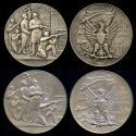 World Coins - 1898  Switzerland - Switzerland, Kanton Neuchatel, Pair of Shooting Festival Medals for the Federal Shooting Festival in Neuchatel, 16-28 July 1898 by Fritz Ulysse Landry