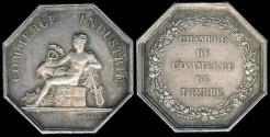 World Coins - 1845 France - Jeton - Dieppe Chamber of Commerce by Joseph François Domard and Alphée Dubois