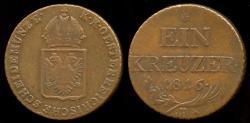 World Coins - 1816 B Austria 1 Kreuzer VF