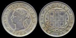 World Coins - 1880 Jamaica 1/2 Penny XF