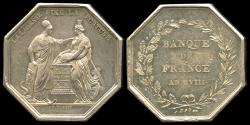 World Coins - 1799  France - Jeton - Bank of France Year VIII - Silver Jeton