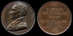 World Coins - 1816 France - Constantin-Francois Chasseboeuf De Volney (French philosopher, historian, orientalist, and politician) by Armand-Auguste Caque