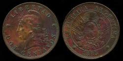 World Coins - 1885 Argentina 2 Centavos XF