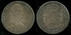 World Coins - 1816 Mo-JJ Mexico (Ferdinand VII - Mexico City Mint) 8 Real XF