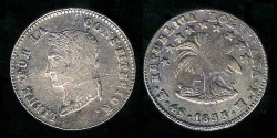World Coins - 1855 MJ-PTS Bolivia 4 Soles XF; Silver