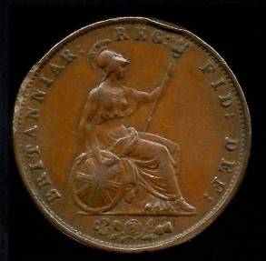 World Coins - 1854 Great Britain 1/2 Penny AU