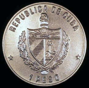 World Coins - 1985 Cuba 1 Peso - Parrot - Wildlife Preservation - BU (Only 3,000 Pieces Were Struck)
