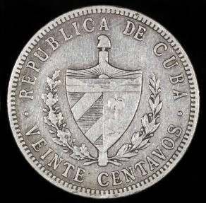World Coins - 1916 Cuba 20 Centavos