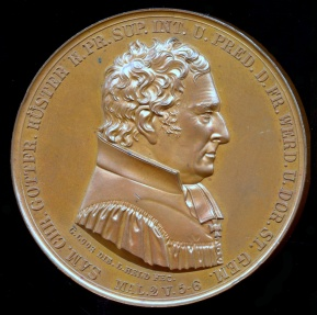 World Coins - 1835  Germany - Office Jubilee of Samuel Christian Gottfried Sexton, Chief Inspector of Havel Mountain, in 1786 pastor of the Friedrich-Werder Church in Berlin