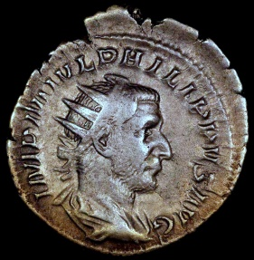 Ancient Coins - Philip I Antoninianus - VICTORIA AVG - Rome Mint