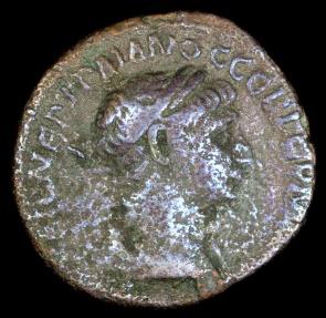 Ancient Coins - Trajan Drachm - Clasped Hands - Cappadocia