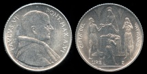 World Coins - 1968 Vatican 2 Lire - Pope Paul VI - FAO Coin - BU