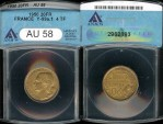 World Coins - 1950 France 20 Franc ANACS AU58