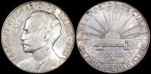 """World Coins - 1953 Cuba 1 Peso - """"Centennial of Jose Marti Birth"""" - UNC"""