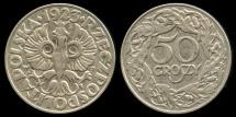 World Coins - 1923 Poland 50 Groszy AU