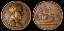 World Coins - 1815 France - Napoleon - The Surrender of Napoleon by Thomas Webb, Nicolas Guy Antoine Brenet and James Mudie