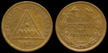 World Coins - 1928 Nicaragua 1 Centavo UNC