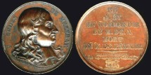 "World Coins - 1817 France - François Eudes de Mézeray, French historian and ""Historiographer to the King of France"" by Francois-Augustin Caunois / ""Galerie Metallique des Grands Hommes Français"""