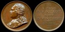 World Coins - 1821  France - Anne-Robert-Jacques Turgot, Baron de Laune, French economist and statesman by Antoine Desboeufs for the Galerie Metallique des Grands Hommes Francais