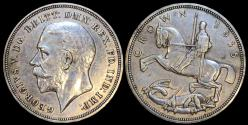 World Coins - 1935 Great Britain 1 Crown - George V - AU